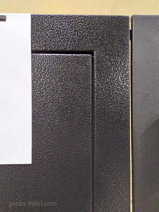 дверь Гарда Изотерма Черное Серебро цвет на фоне листа А4