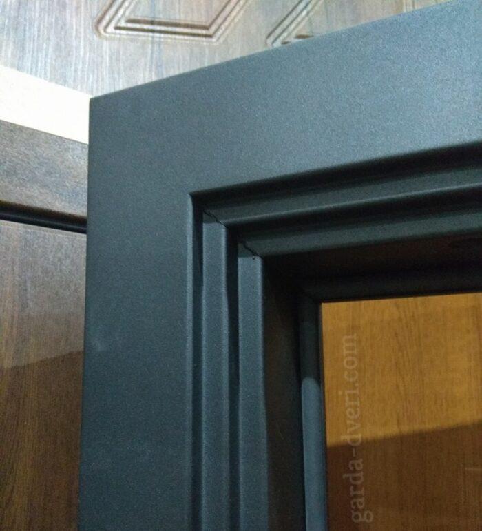 Двери Гарда S1 короб (цвет черный шелк)
