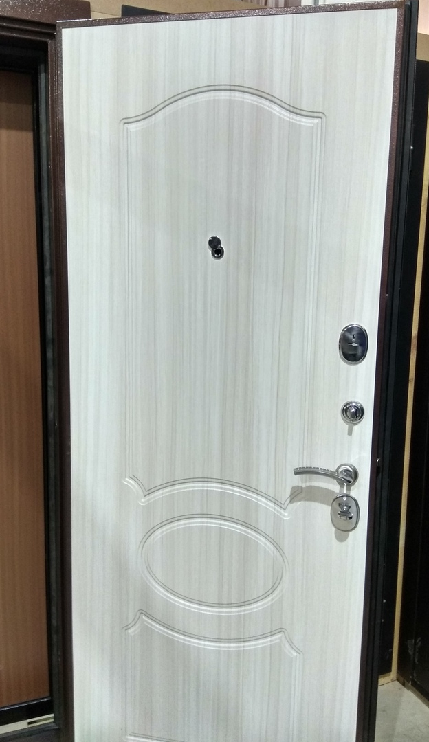 Двери Гарда S1 панель Белый дуб