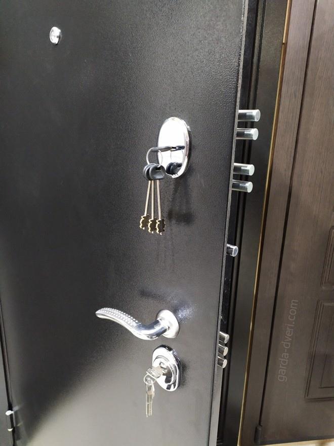 дверь Гарда S3 черный цвет замки, вид снаружи