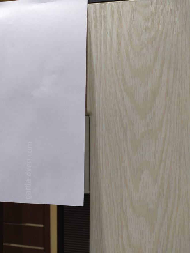 дверь Гарда S5 цвет панели на фоне листа А4