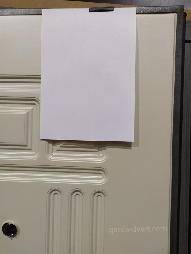дверь Гарда S7 цвет панели в сравнении с листом А4