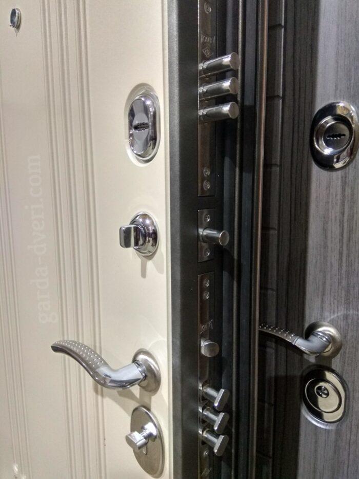 Двери Гарда S7 замки вид изнутри