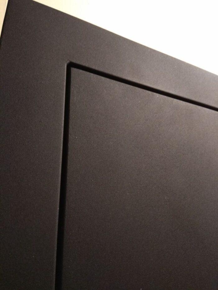 Гарда двери черный шелк