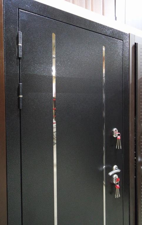 Двери Гарда Изотерма Черное серебро