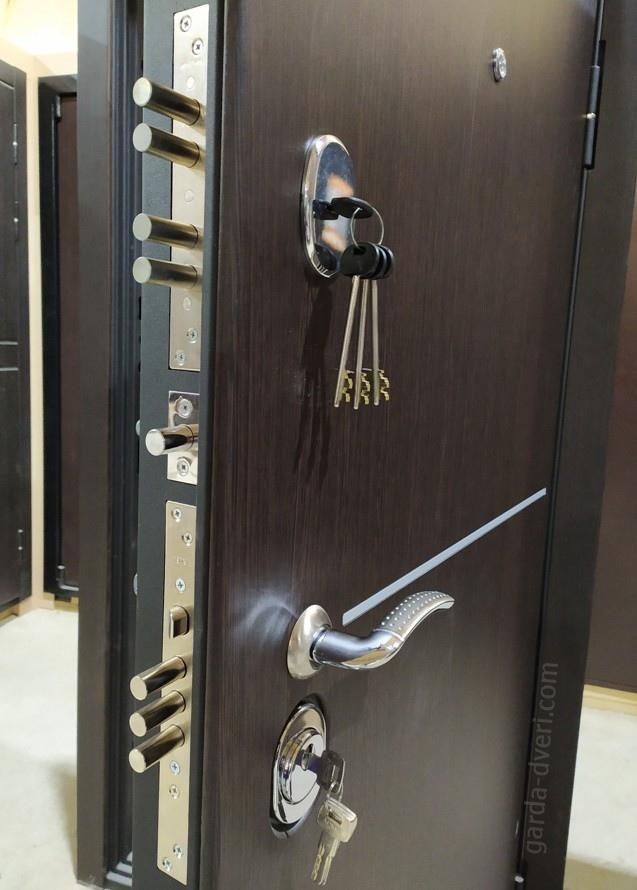 дверь Гарда S8 вид замков снаружи