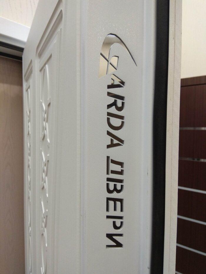 Двери Гарда S12 белая торцевая часть